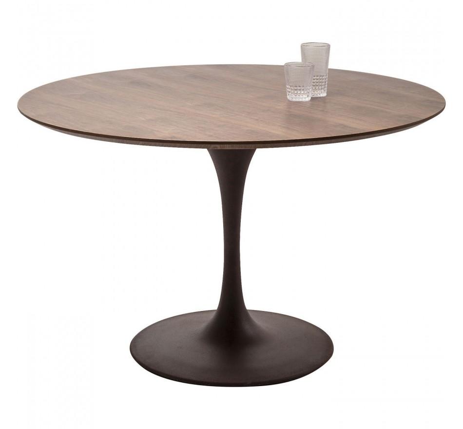 Table Invitation noyer & marron 120cm Kare Design