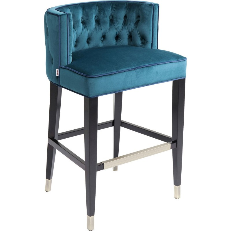 tabouret de bar baroque bleu aristo kare design. Black Bedroom Furniture Sets. Home Design Ideas