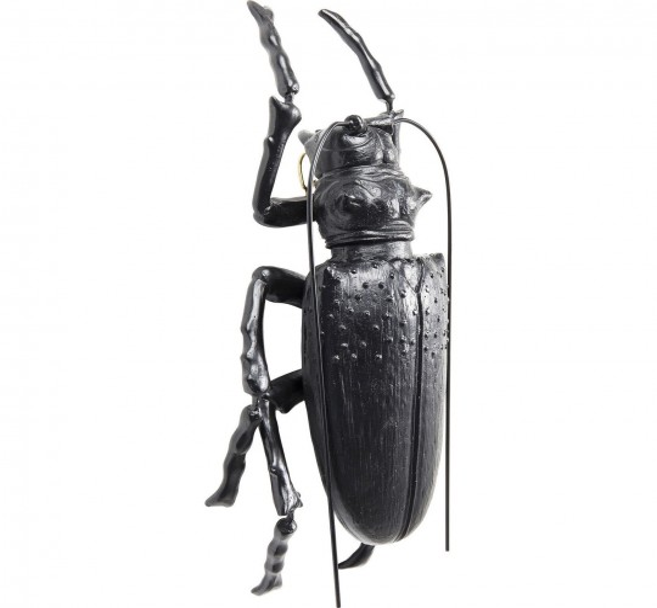 Déco murale Longicorn Beetle noir mat Kare Design