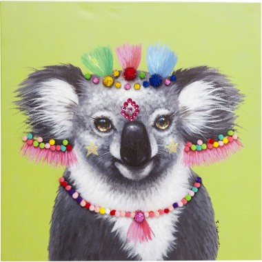 Tableau Touched Koala Pom Pom 70x70cm Kare Design