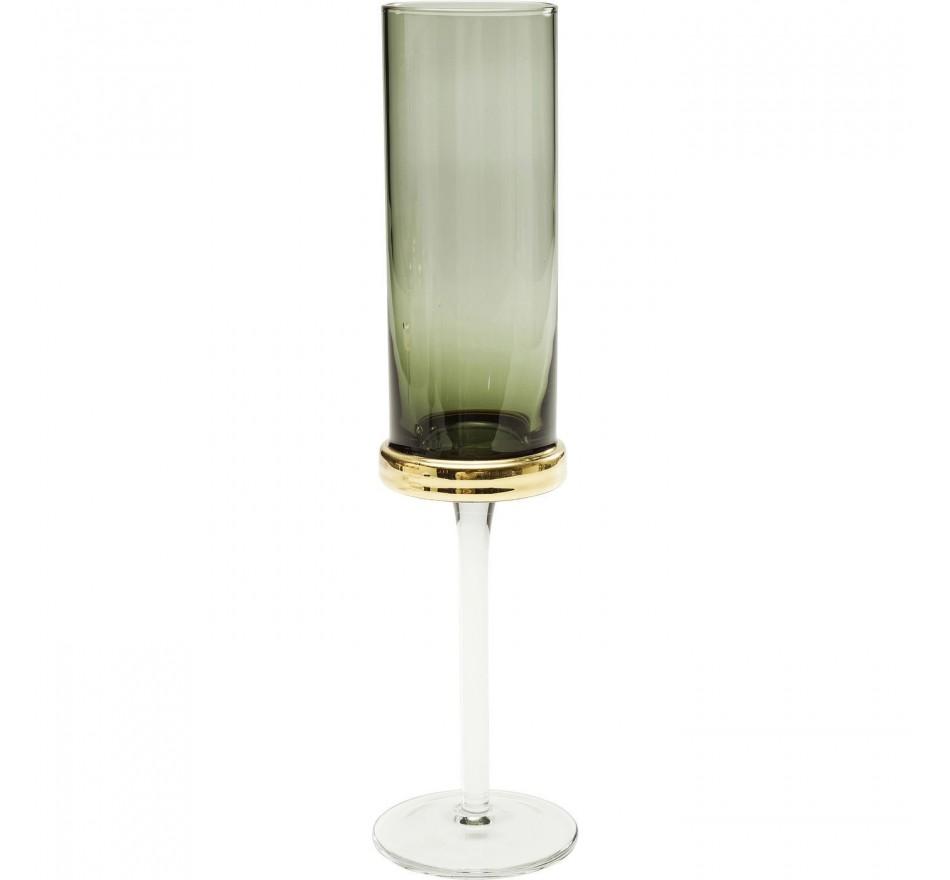 Flûtes à champagne Innocent fumé set de 6 Kare Design
