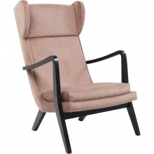 Fauteuil relax Silence velours rose Kare Design