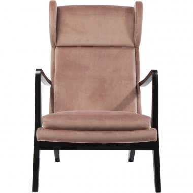 Fauteuil Silence velours rose Kare Design