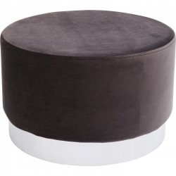Tabouret Cherry Eclipse gris anthracite et chrome Kare Design