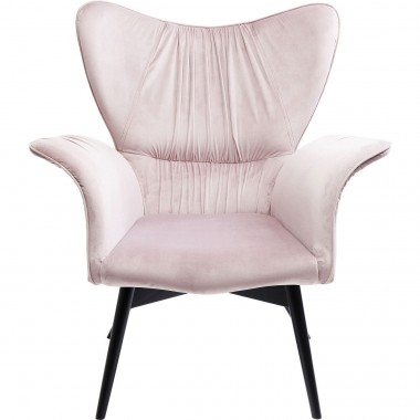 Fauteuil Wall Street velours rose Kare Design