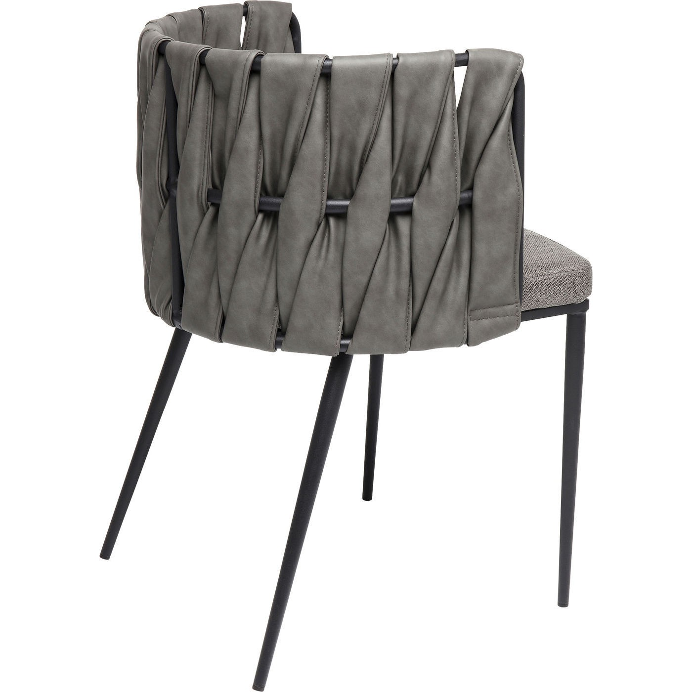 Chaise avec accoudoirs Cheerio grise Kare Design