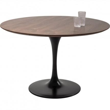 Table Invitation noyer & noir 120cm Kare Design