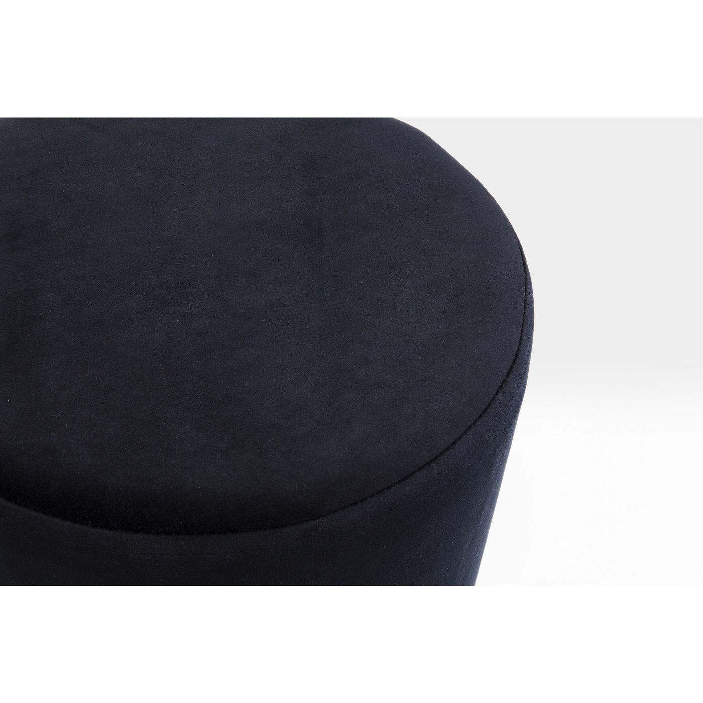 Tabouret Cherry 35cm noir et laiton Kare Design