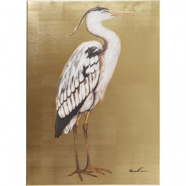 Tableau Touched Heron Right 70x50cm Kare Design