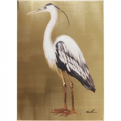 Tableau Touched Heron Left 70x50cm Kare Design