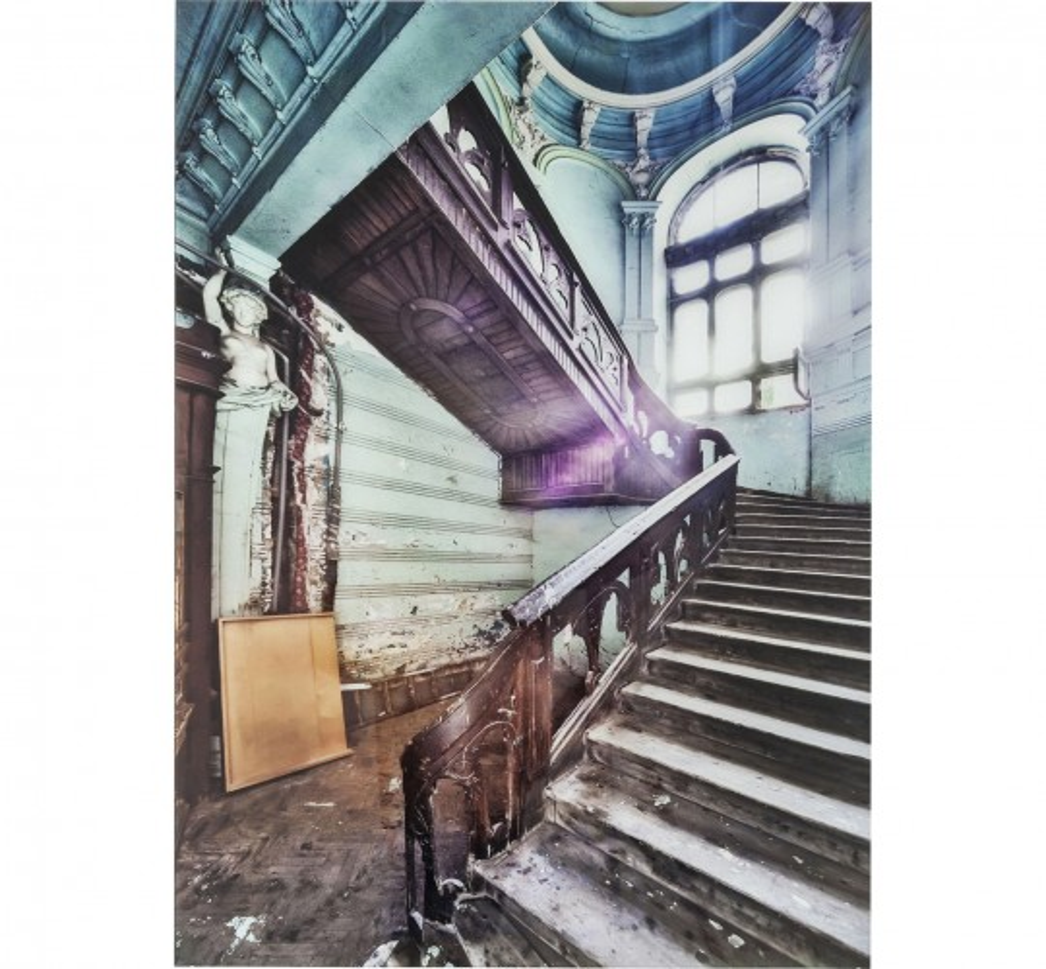 Tableau en verre Old Staircase Corner 120x80cm Kare Design