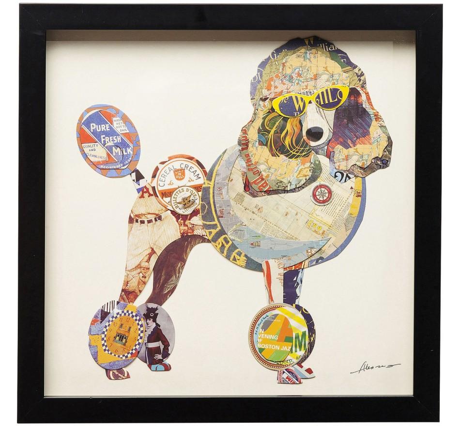 Tableau Frame Art Poodle 41x41cm Kare Design