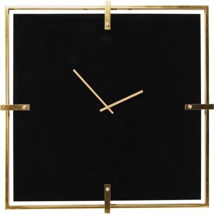 Horloge murale Black Mamba dorée 91x91cm Kare Design