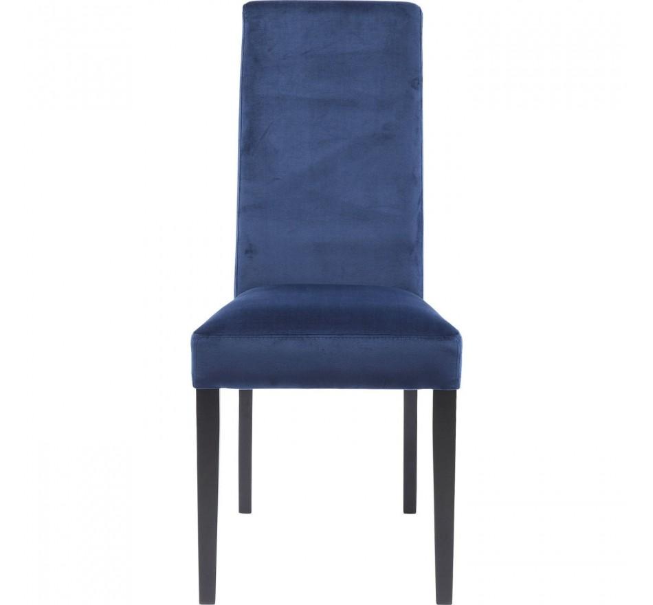 Chaise Econo Slim velours bleu Kare Design