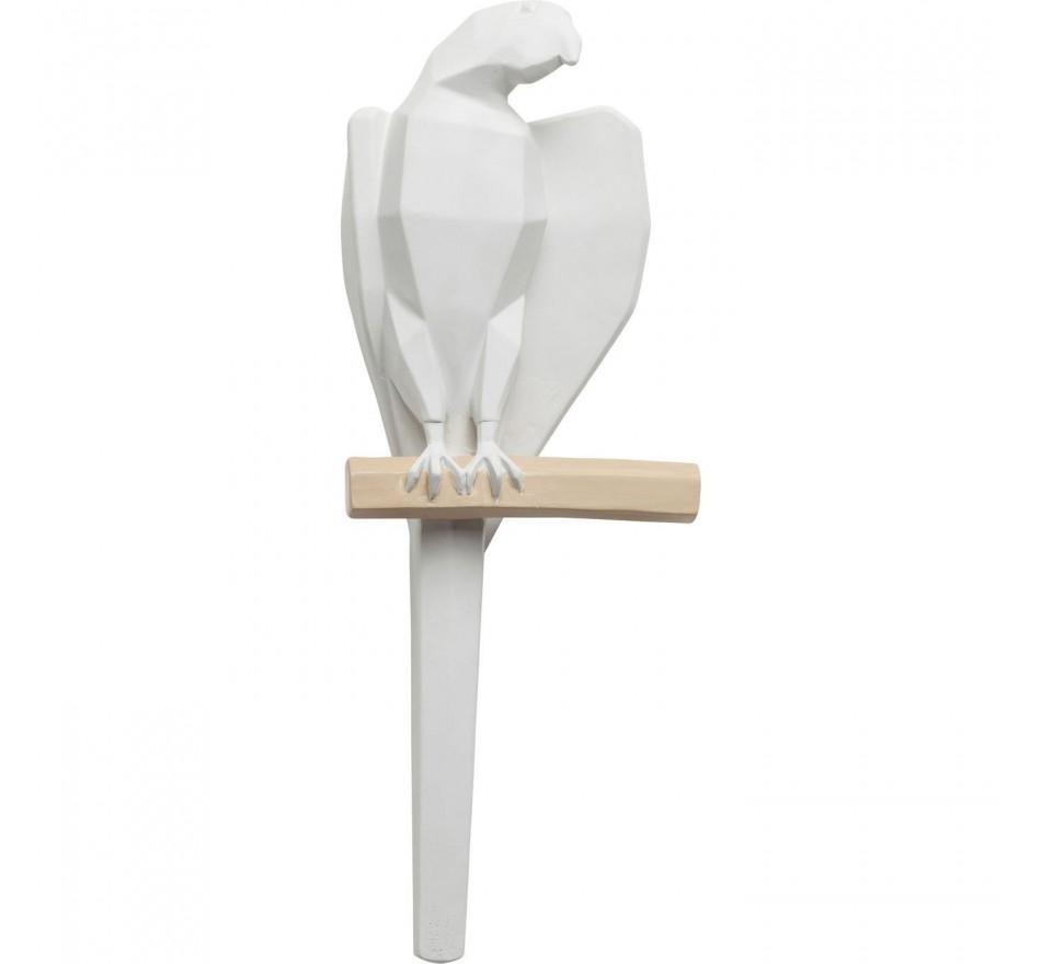 Déco murale perroquet blanc Kare Design