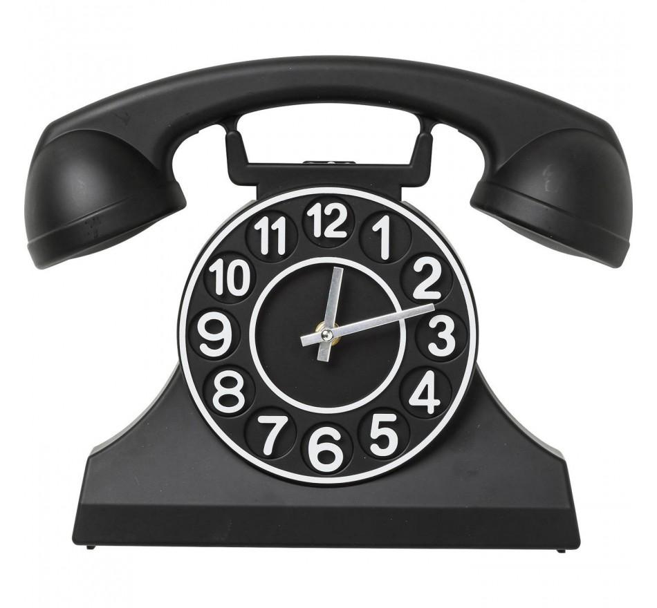 Horloge murale Téléphone noire Kare Design