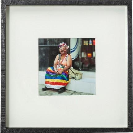 Tableau Frame Cuba Life 40x40cm Kare Design