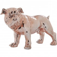 Déco Bulldog or rose 42cm Kare Design