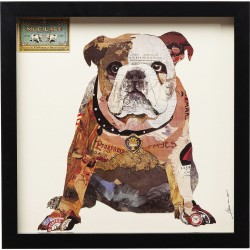 Tableau Frame Art Bulldog 41x41cm Kare Design