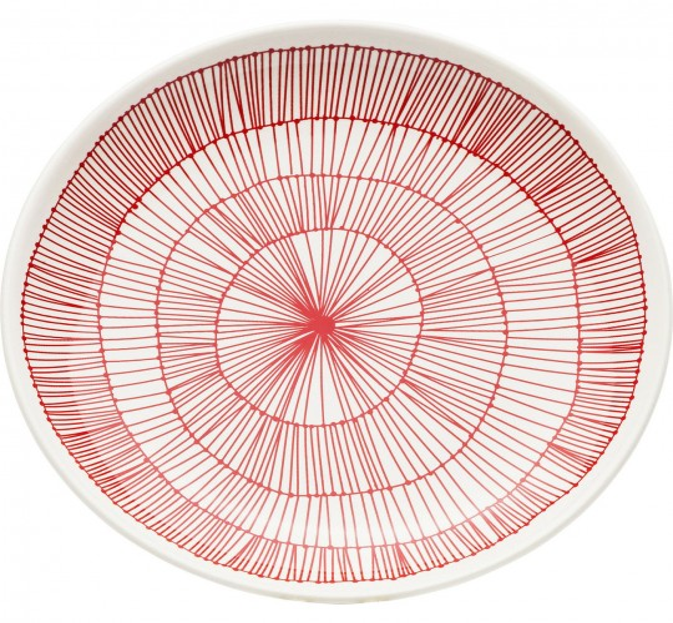 Assiettes Net rouge 21cm set de 4 Kare Design