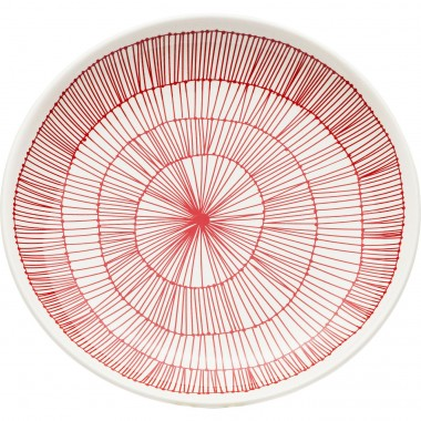 Assiettes Net rouge 21cm set de 4 Kare Design