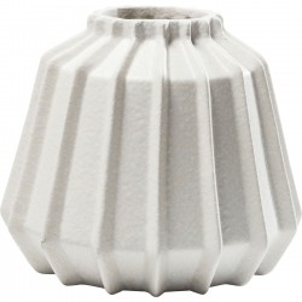 Vase Groove blanc Kare Design