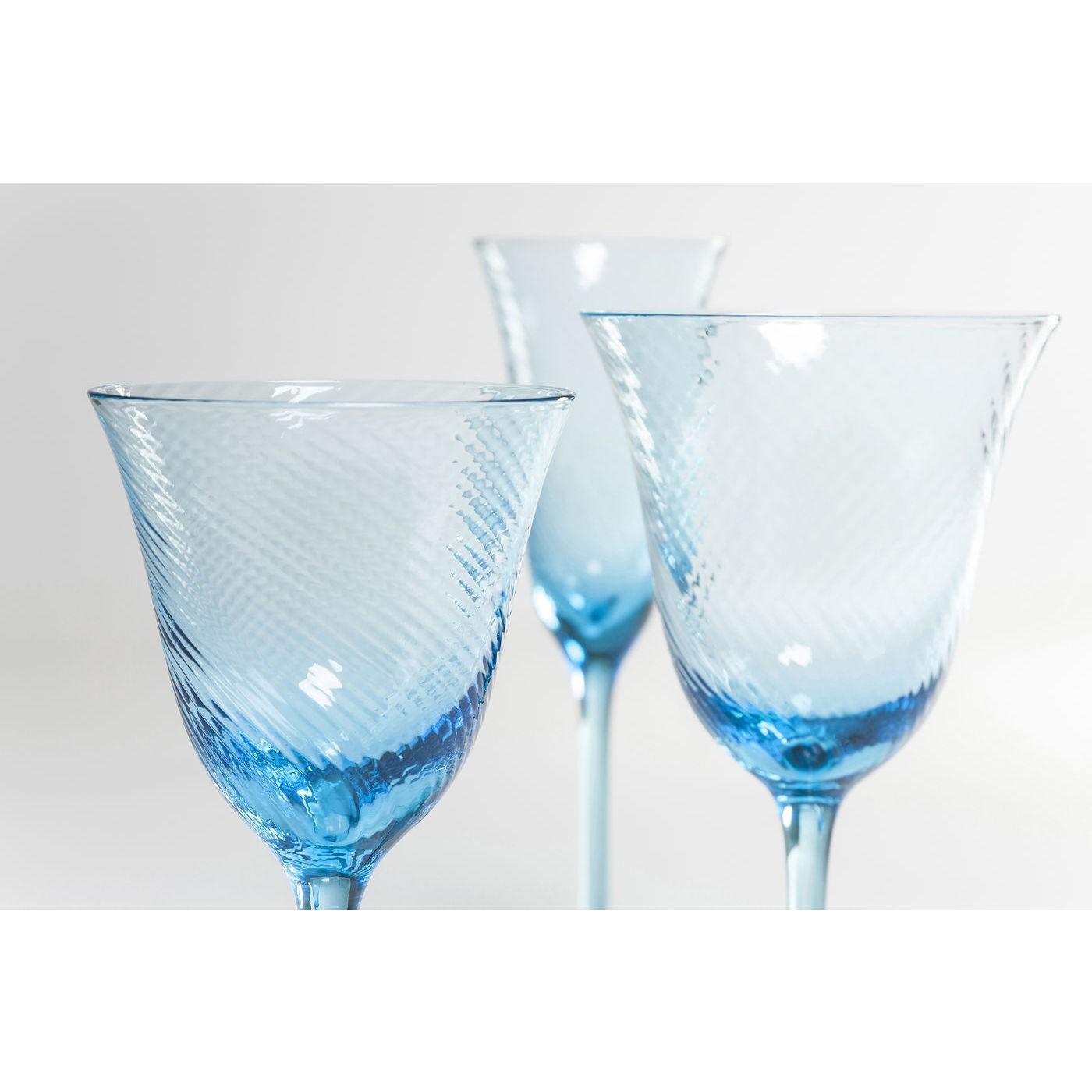 Verres à vin blanc Capri bleu clair set de 6 Kare Design