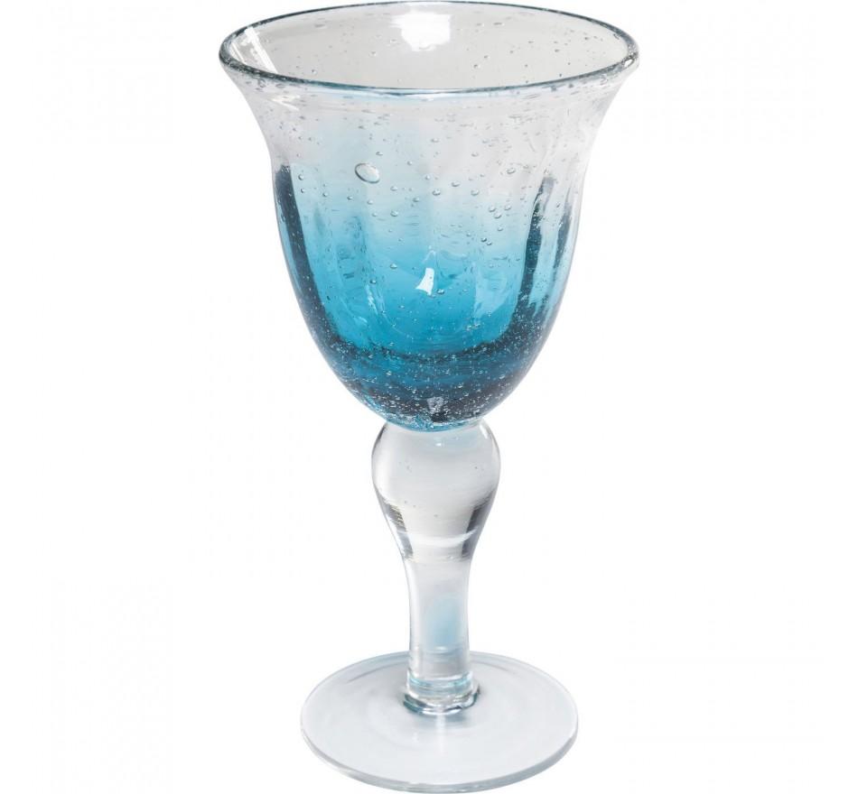 Verres à vin rouge Monaco bleu set de 6 Kare Design