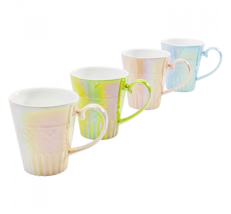 Tasses Rainbow Feeling set de 4 Kare Design