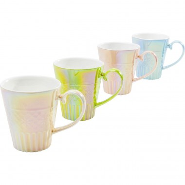 Tasses Rainbow Feeling set de 4 Kare Design