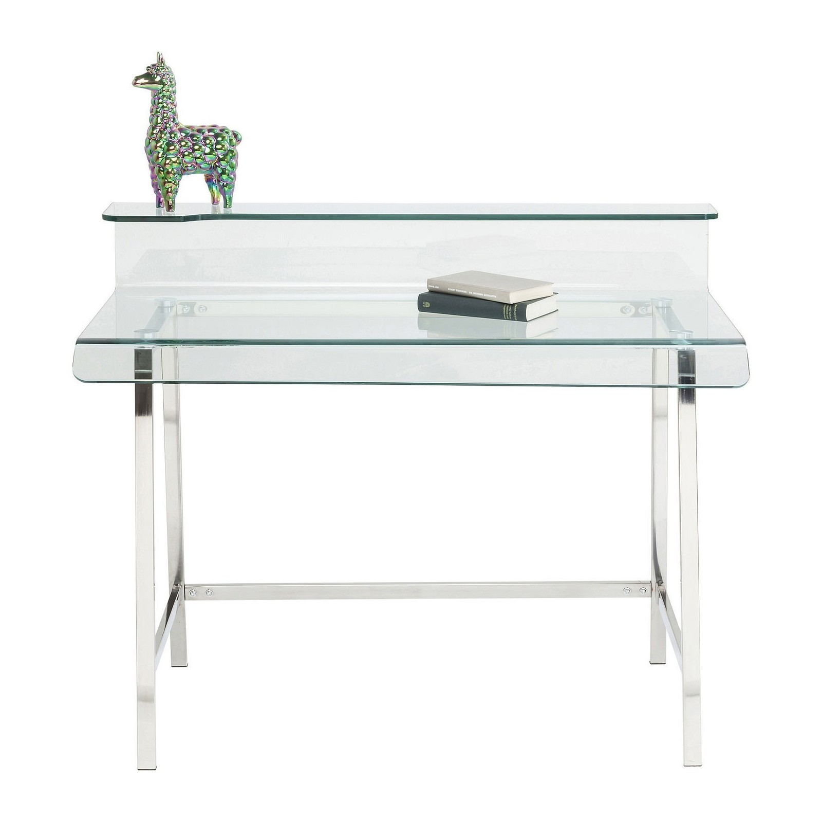 Bureau design en verre visible clear kare for Bureau en verre design