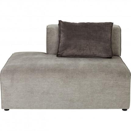 Méridienne gauche canapé Infinity gris Kare Design