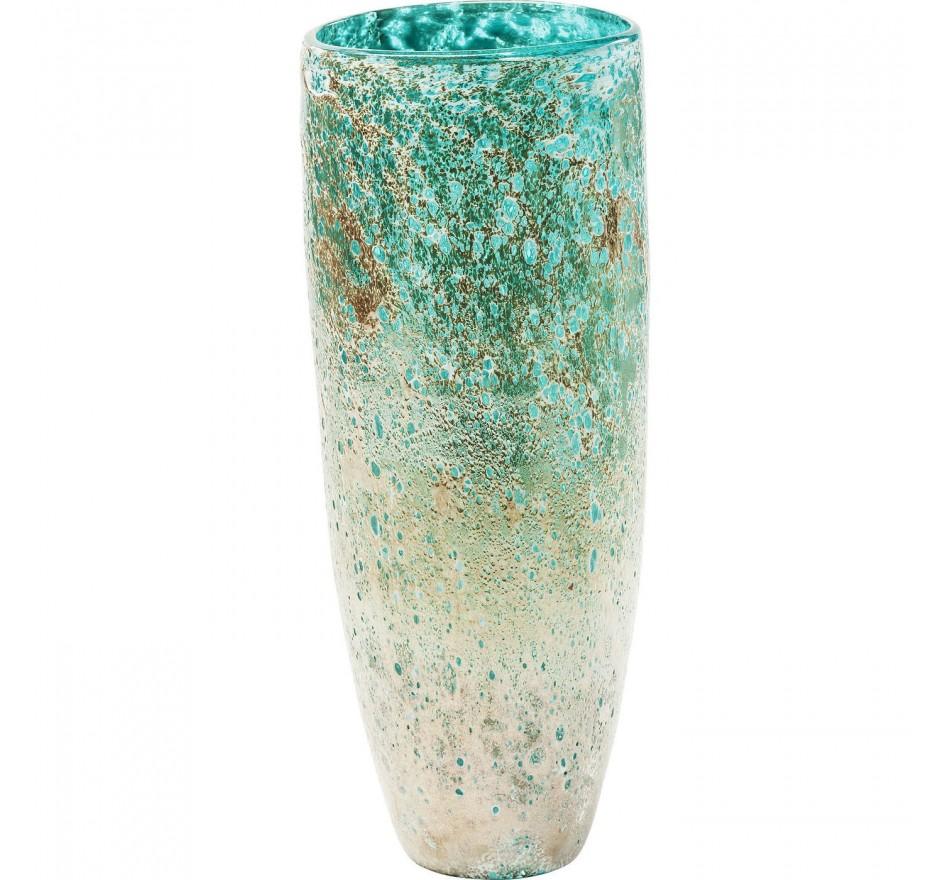 Vase Moonscape turquoise 37cm Kare Design