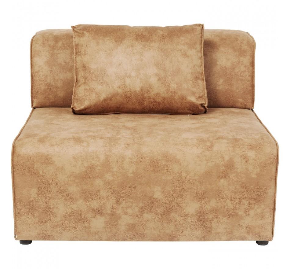 Assise centrale 120cm canapé Infinity cognac Kare Design