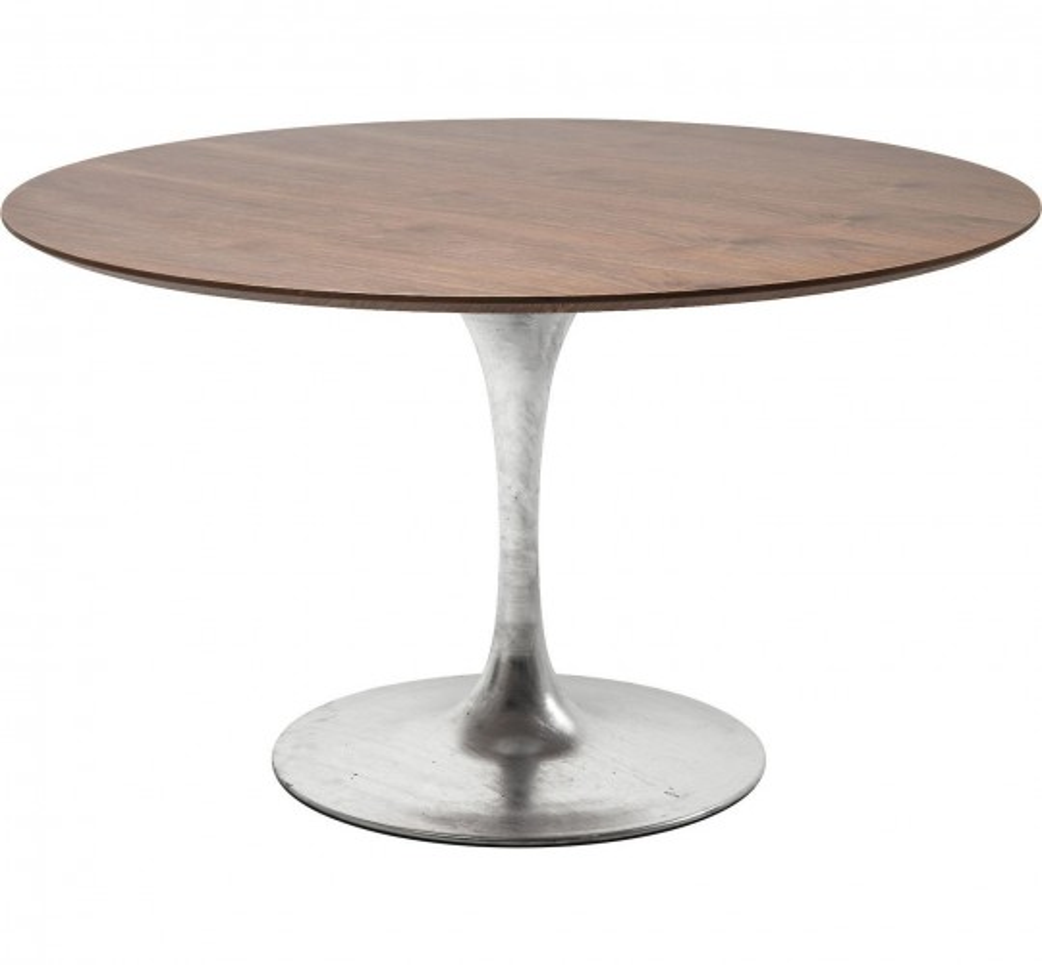Table Invitation noyer & zinc 120cm Kare Design