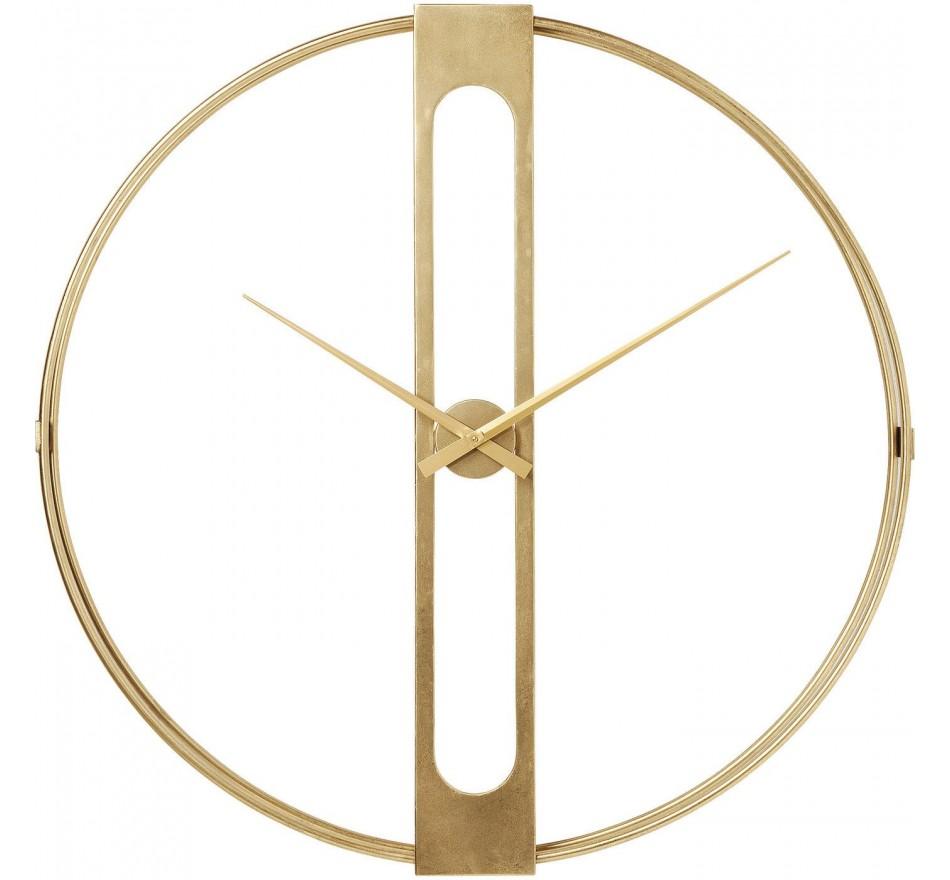 Horloge murale Clip dorée 107cm Kare Design