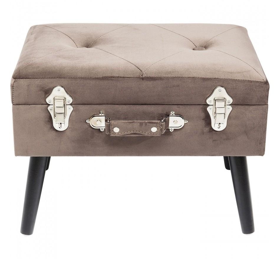 Tabouret Suitcase gris Kare Design