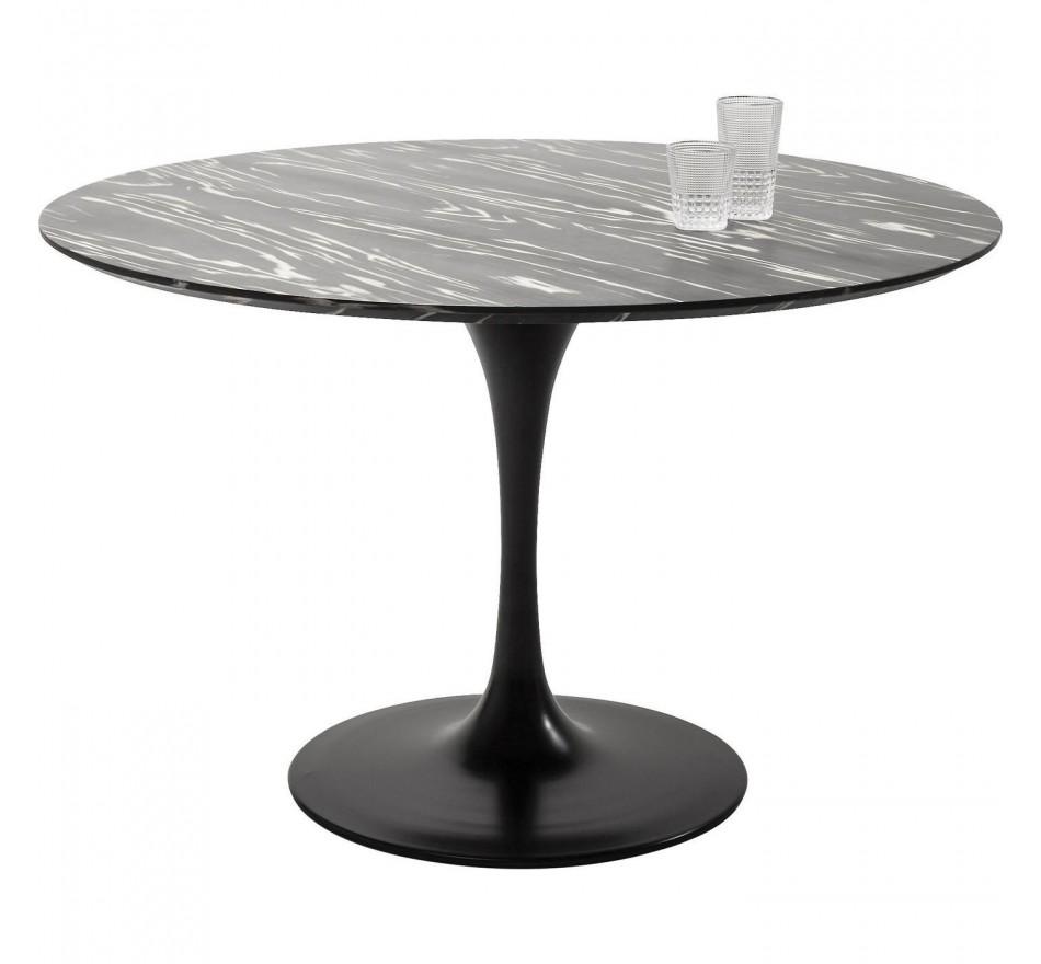 Table Invitation ébène & noir 120cm Kare Design
