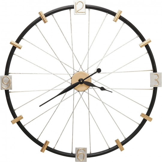 Horloge murale Spoke Wheel 80cm Kare Design