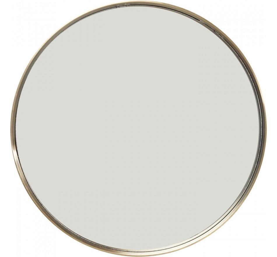 Miroir Curve rond laiton 60cm Kare Design