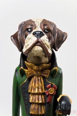 Horloge à poser Gentlemen chien 138cm Kare Design
