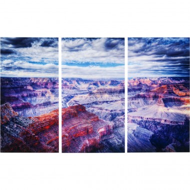 Tableaux en verre Triptychon Grand Canyon 160x240cm set de 3 Kare Design