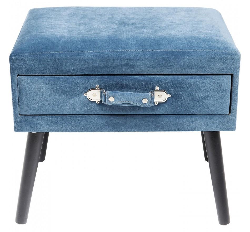 Tabouret Drawer bleu Kare Design