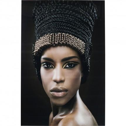 Tableau en verre Royal Headdress Face 150x100cm Kare Design