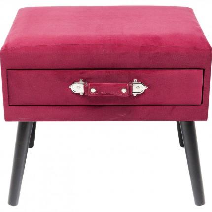 Tabouret Drawer rouge Kare Design