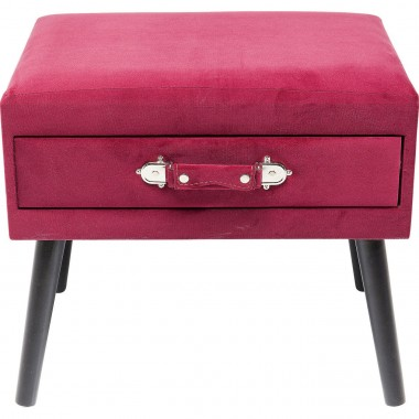 Tabouret Drawer rouge Kare Design