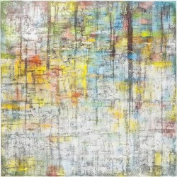 Peinture à l'huile Abstract multicolore 150x150cm Kare Design