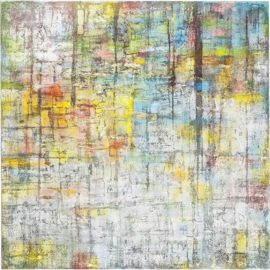 Peinture à l'huile Abstract Colore 150x150cm Kare Design