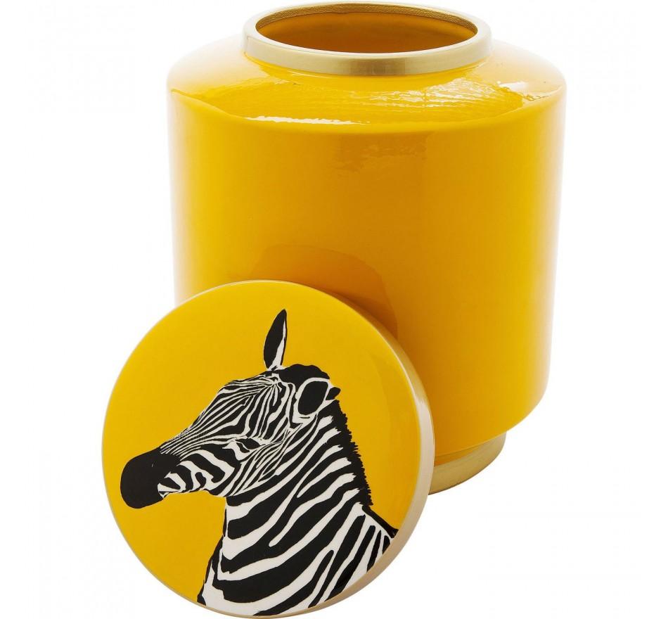 Boîte Zebra jaune 25cm Kare Design