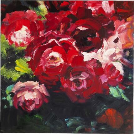 Peinture à l'huile Roses 100x100cm Kare Design
